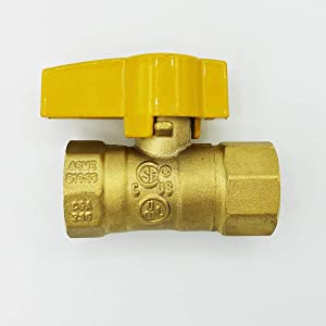 "Cambridge Gas Connector Shut Off Valve, 1/2"" FIP x 1/2"" FIP"