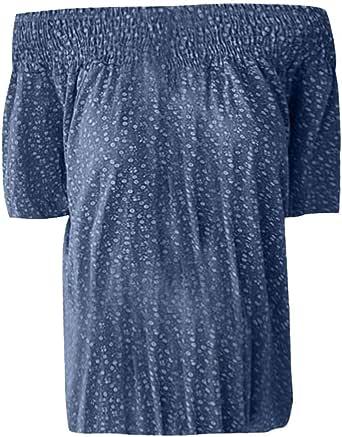 Busas de Mujer Elegantes Verano Moda un Hombro Manga Corta Camiseta Impresa de Color Sólido Blusas Mujer de Vestir de Verano Playa y Fiesta LiNaoNa: Amazon.es: Ropa y accesorios