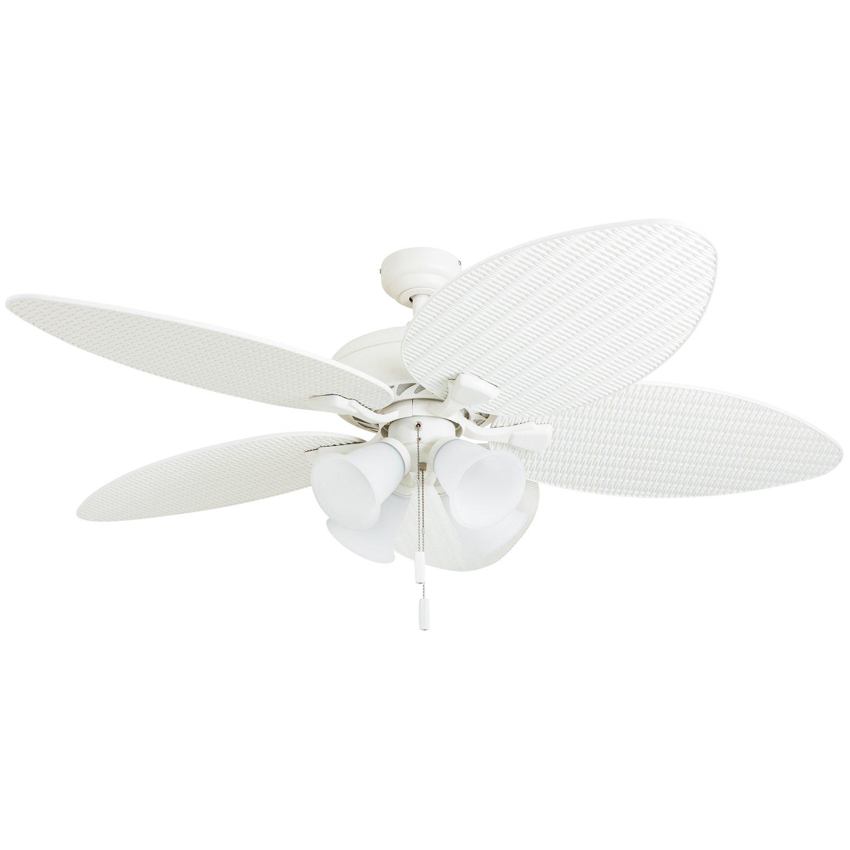 White Honeywell Ceiling Fans 50506-01 Palm Lake 52  Ceiling Fan, Sandstone