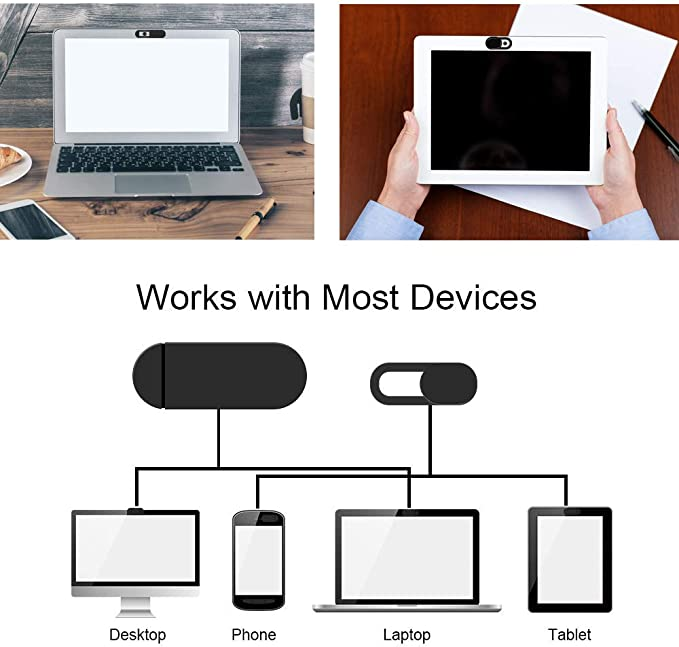 Ultra-Adhesive Camera Privacy Assistant to Protect Privacy Every Moment SDETER Ultra-Thin Web Camera Cover Slider Works with Most Tablet Laptop,PC and All-in-One Desktops Black,6Pack Webcam Cover