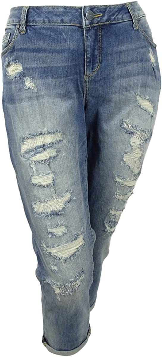 SLINK Jeans Womens Plus Size Jackie Long Denim Skirt