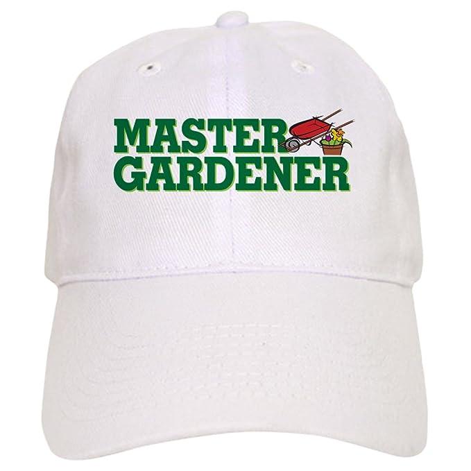 Amazon.com: CafePress - Master Gardener Cap - Baseball Cap with Adjustable Closure, Unique Printed Baseball Hat Khaki: Clothing