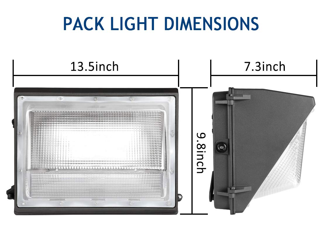 Dusk to Dawn Outdoor Wall Light 840W HPS//HID Equivalent 5000K 16940Lm LED Flood Light Commercial and Industrial LED Lights for Parking Lots|Apartments|Warehouses 120W LED Wall Pack with Photocell