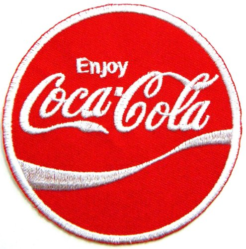 Enjoy Coca Cola Coke Soft Drink Logo Jacket T-shirt Patch Sew Iron on Embroidered Sign Badge Costume Clothing High Roller Pub Sign
