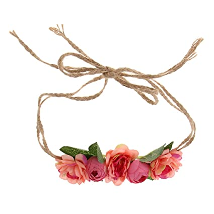 Prettyia Women Girl Boho Flower Hairband Headband Crown Party Beach Garland Accessories