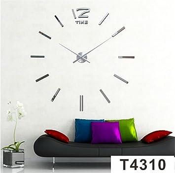 Relojes de pared Nmeros Romanos de Gran ingls Creativo Pared Bricolaje Pared Grande Reloj, 1: Amazon.es: Deportes y aire libre