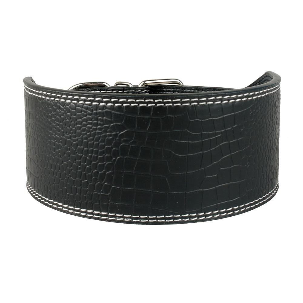 Black XL Black XL Zuwl(TM) 3inch Wide Plain Leather Collar Soft Pu Leather Dog Pet Collar For Large Dogs