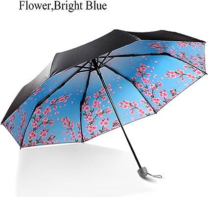 POCKETELEMENT Travel Compact UV Protective Sunscreen Umbrella Windproof Rain Umbrella