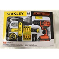 66-Piece Black+Decker Stanley Cordless Drill Home Project Kit
