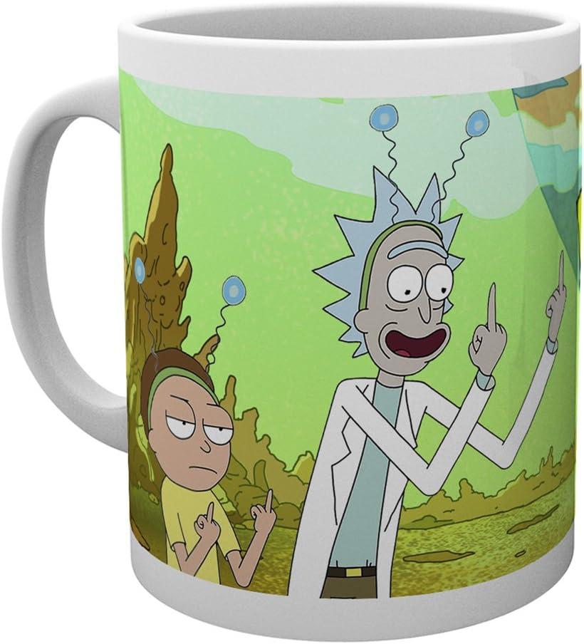 GB Eye LTD, Rick y Morty, Paz, Taza de cerámica: Amazon.es: Hogar