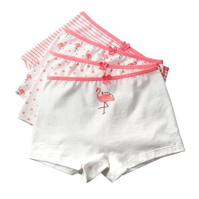 Amazon.com: Para niñas niños de 4 pcs flamencos verano ropa ...