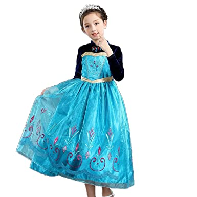 f5f036b3fd81e Amazon.co.jp: アナと雪の女王ドレスコスプレキッズ衣装 人気 子供用 ...