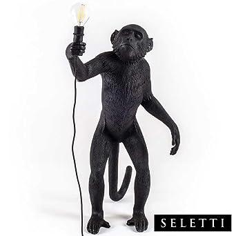 Seletti Cm Debout Lamp 5 RésineNoir60 X 52 33 Monkey WBoeEQrdCx
