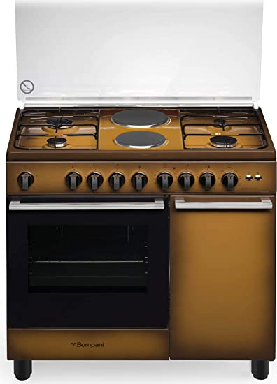Cucina A Gas Con Forno Elettrico Ventilato N 4 Fuochi 2 Piastre Elettriche 90x60 Cm Amazon It Grandi Elettrodomestici