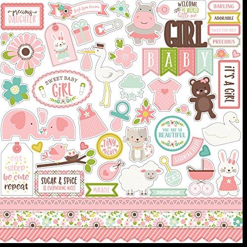 Echo Park Sweet Baby Girl Element Sticker Sheet