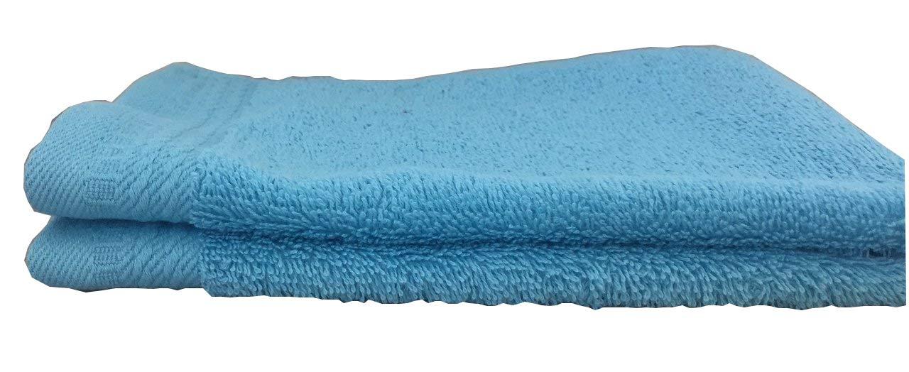 Ajuar Rizo - Toalla de Tocador 600 gr. 100% algodón peinado color turquesa 30x50 cm: Amazon.es: Hogar