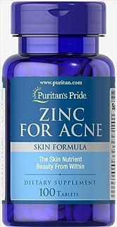 Amazon com: Zinc for Acne - 100 tabs,(Good'n Natural): Health