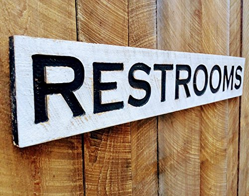 Americana Signs Large Restrooms Sign 48