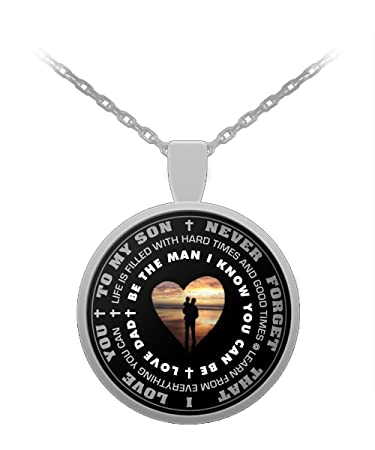 Amazon father to son gifts inspirational pendant necklace father to son gifts inspirational pendant necklace personal present from dad aloadofball Gallery