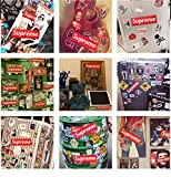 200 pcs Supreme Sticker Red Waterproof and Oil