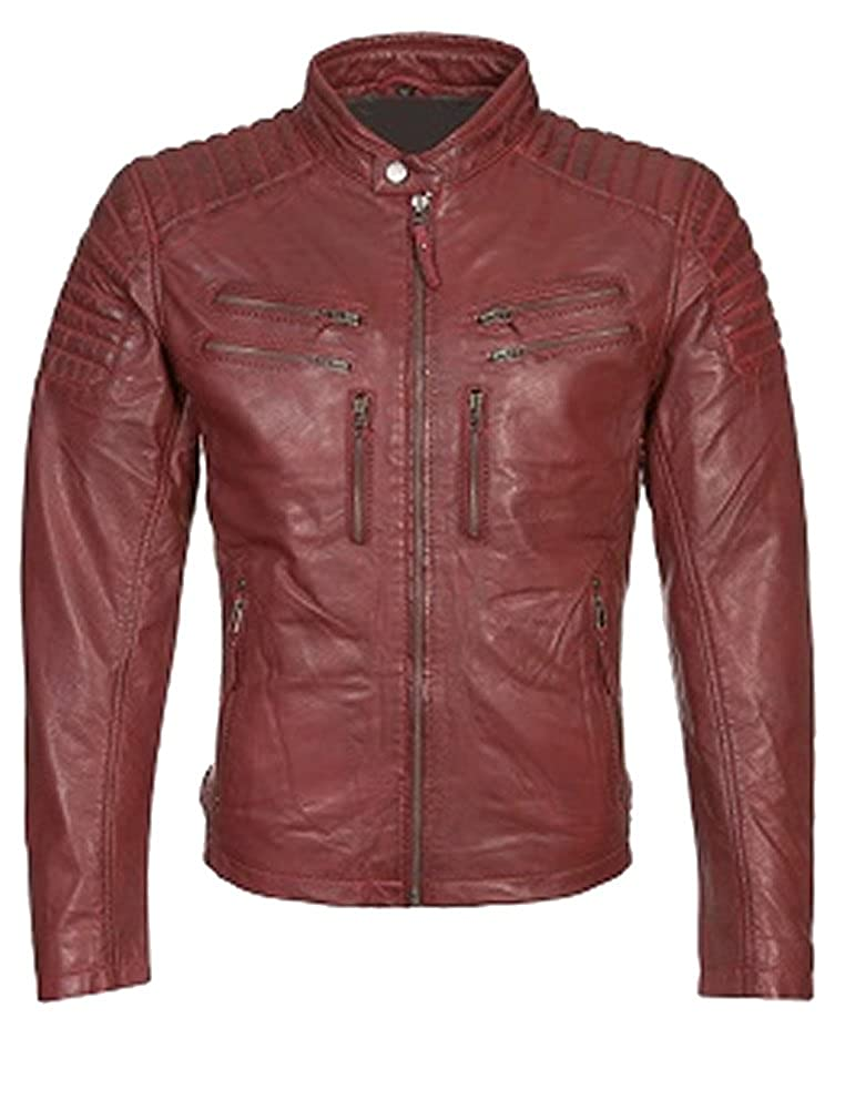 Sheep Leather Burgundy Sleekhides Women's Fashion Stylish Leather Biker High Quality Jacket
