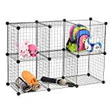 #4: Wire Storage Cubes, MaidMAX Free Standing Modular Shelving Units Closet Organization Systems, 24 Wire Sides, Updated Version, Black