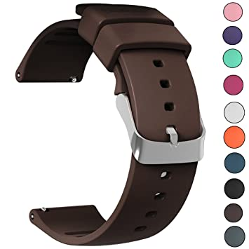 JIELIELE Correa Reloj Silicona Correa de Recambio, Correa de Repuesto Reloj Cinturón Adecuado para Reloj Tradicional Reloj Deportivo Reloj Ticwatch E (20mm, ...