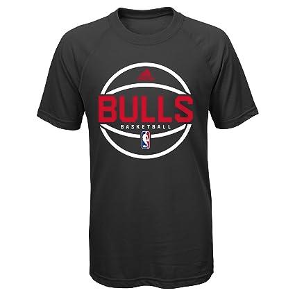 adidas Chicago Bulls Juventud Practicewear Camiseta - Negro ...