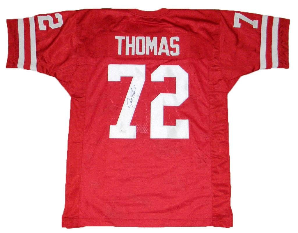 100% authentic 01646 48ecf Joe Thomas Autographed Jersey - #72 Red - JSA Certified ...
