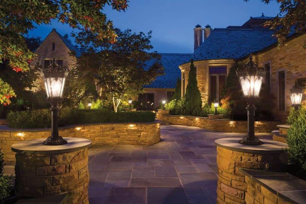 Designers Fountain 2976-BK Devonshire Outdoor Post Lanterns, 20 inch, Black - 2 Pack