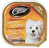 """Cesar Savory Delights Canine Cuisine Ham and Egg Flavor with Bacon and Potato in Meaty Juices 3.5-Ounce (Pack of 24 ) """", My Pet Supplies"""