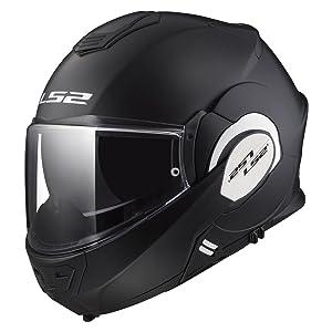 LS2 Helmets Motorcycles & Powersports Helmet's Modular Valiant (Matt Black, Large)