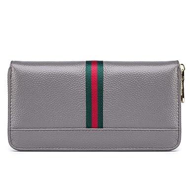 0081001fa571 Amazon.com: WeoHau Fashion Ladies Pu Long Wallet Purse Multi ...