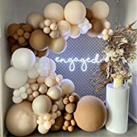LDFWAYAU White Caramel Coffee Grey Skin Balloons Arch Garland Kit 124Pcs Balloons for 1st Birthday Baby Shower Wedding…