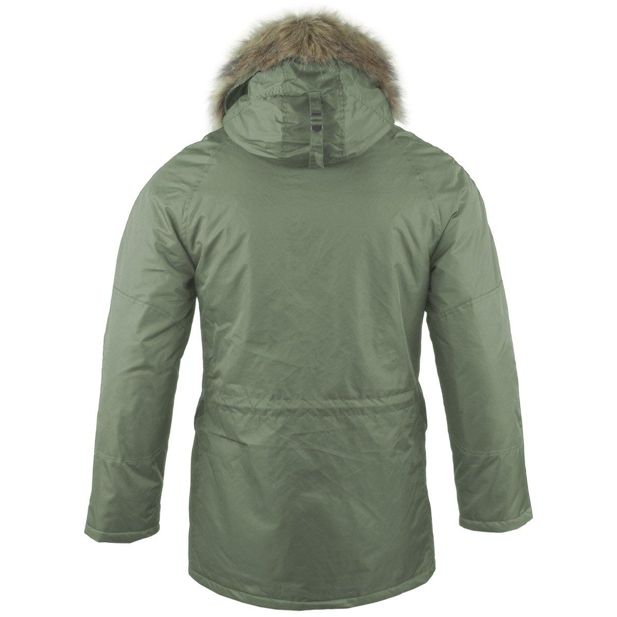 b9c51be4ec9 Mil-Tec N3B Flight Jacket Olive at Amazon Men s Clothing store