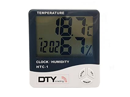 htc 1 humidity time display meter with alarm clock wall mount or rh amazon in HTC Weather and Clock HTC Desktop Clock