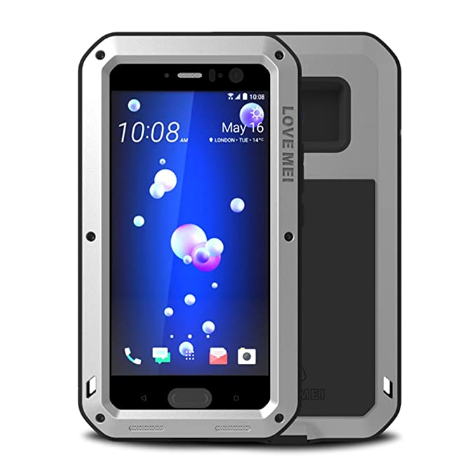 sneakers for cheap 36910 51a11 HTC U11 Case,Feitenn Hybrid Armor Alloy Aluminum Metal Bumper Case Gorilla  Glass Soft Rubber Military Heavy Duty Shockproof Hard Water resistant Case  ...
