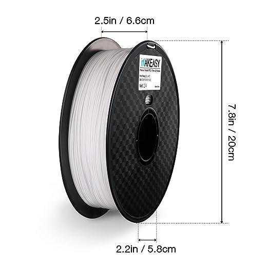 Filamento 3D TPU, filamento de TPU de 1,75 mm, filamento de ...