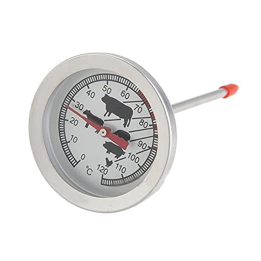 TOOGOO(R) 1PC Stainless New Steel Instant Read Probe Thermometer For Food Cooking Meat BBQ
