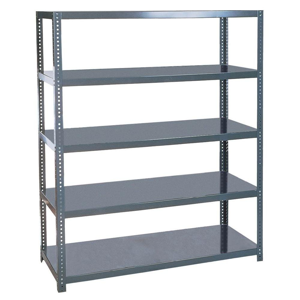 Edsal 72 in. H x 48 in. W x 18 in. D Steel Commercial Shelving Unit in Gray by Edsal Product