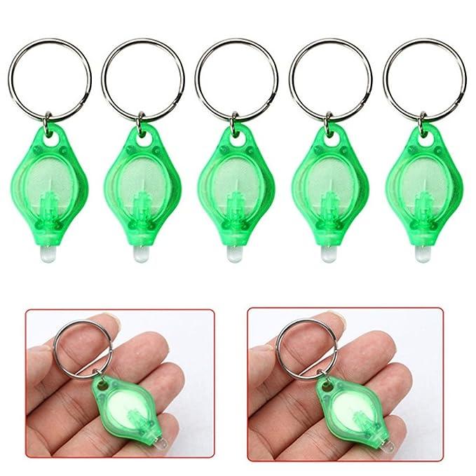 Portátil Mini LED llavero linterna, dedo luz lámpara - verde ...