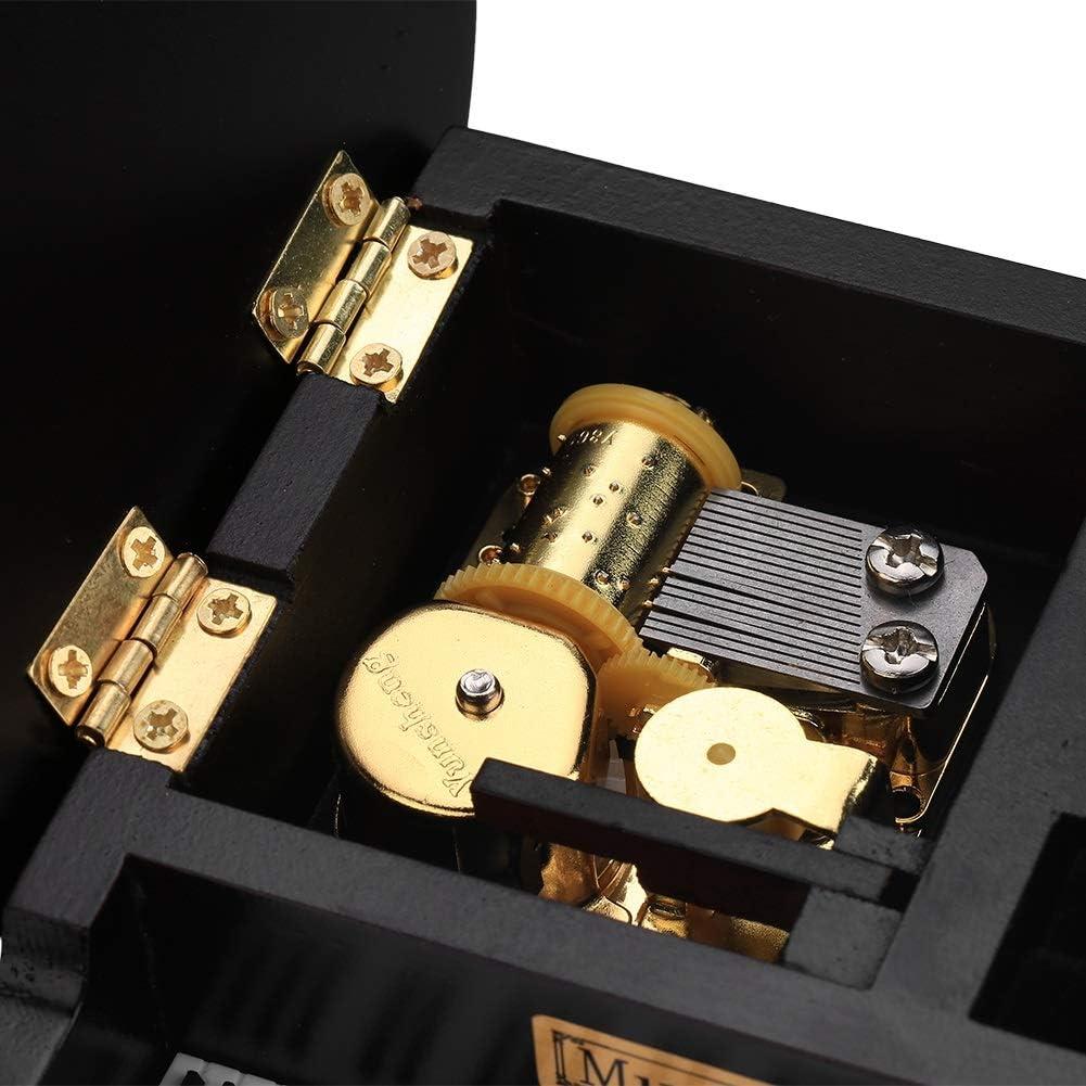 Piano Shaped Music Box Grand Piano Shaped Windup Wooded Music Box with Small Stool Creative Gift Birthday Present