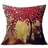 Euone Print Sofa Bed Home Decoration Festival Pillow Case Cushion Cover (B)