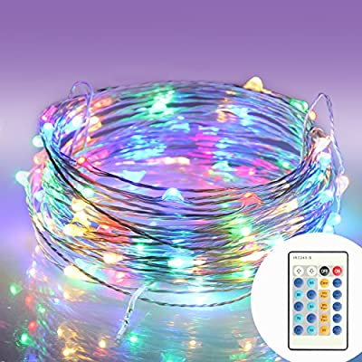 String Lights Moniko with Remote Copper Wire Lights Indoor or Outdoor Christmas Lights for Bedroom Garden Patio Wedding Christmas Tree Party Waterproof 100 LEDs 33 ft with Power Adapter