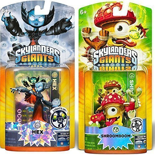 Activision Skylanders Giants Shroomboom and Hex Lightcore Character Figure | Bundle Bonus Pack