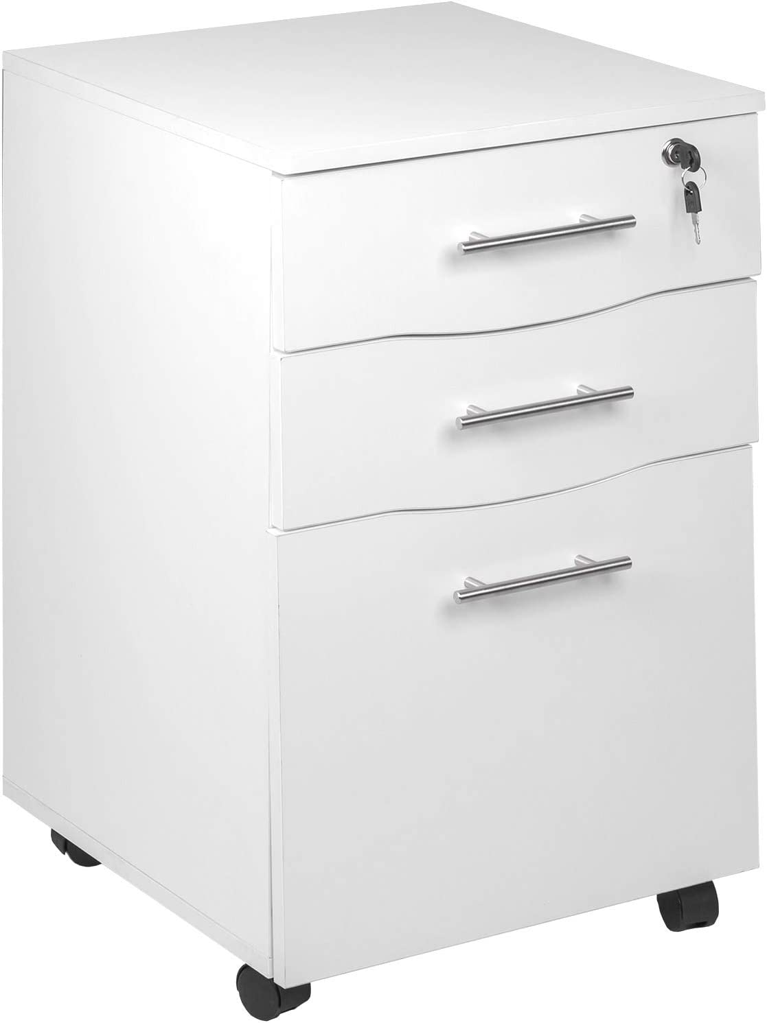 Amazon.com : Mobile 33 Drawer Lockable White Under Desk Pedestal