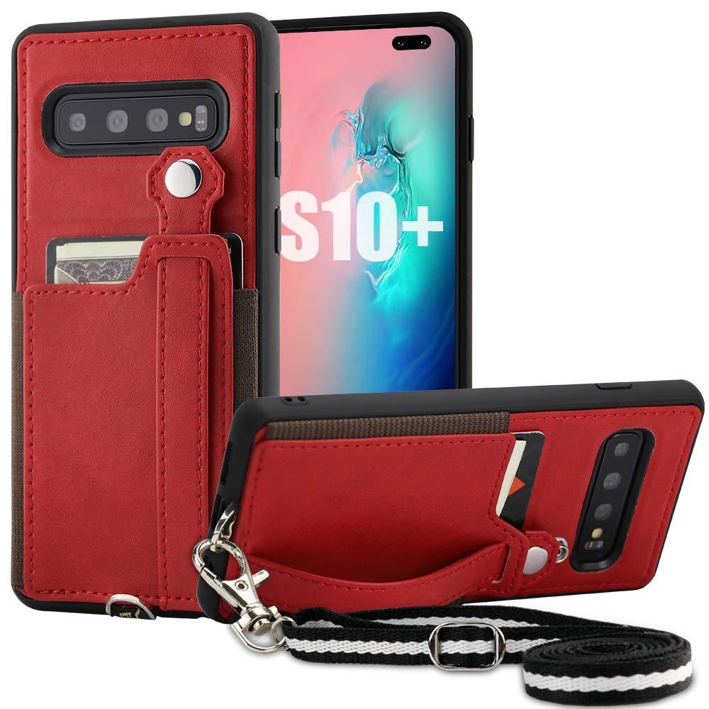 Funda para Samsung S10 Plus con pie TOOVREN (7QNHSP7L)
