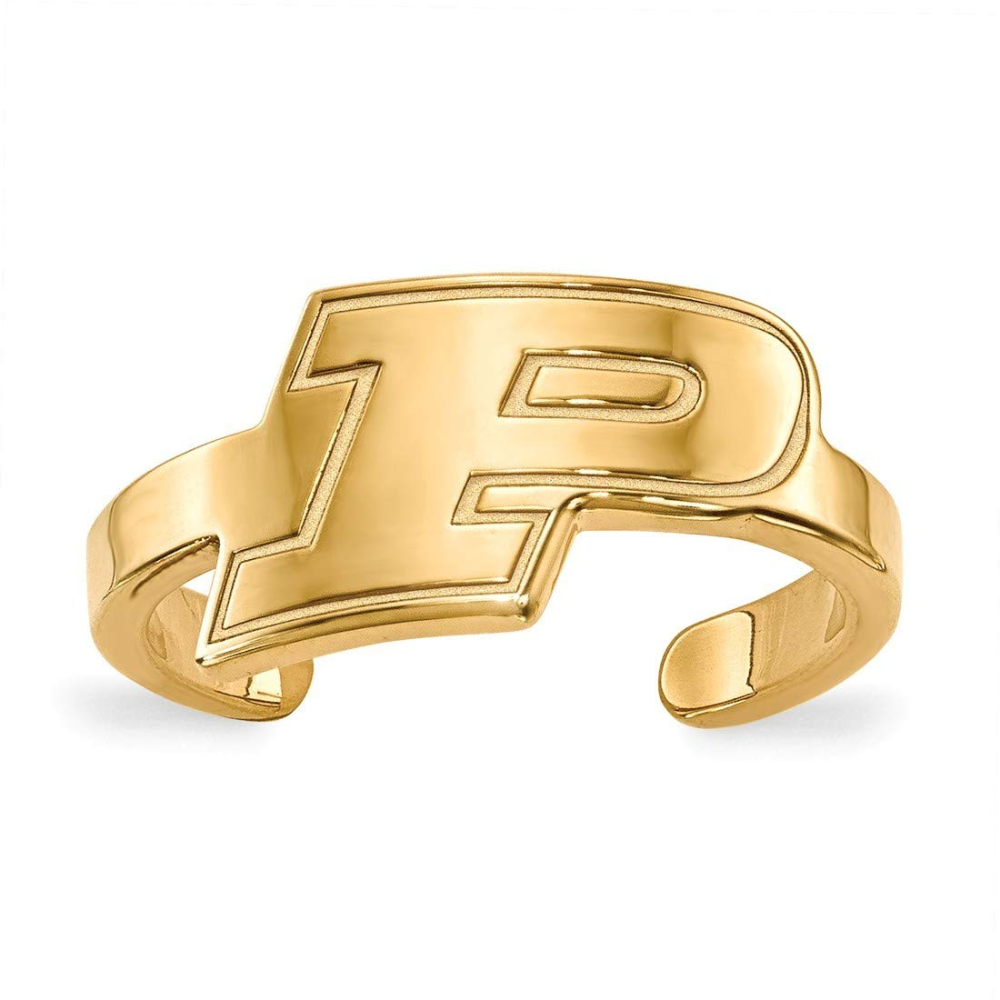 Gold-Plated Sterling Silver Purdue Toe Ring by LogoArt GP024PU