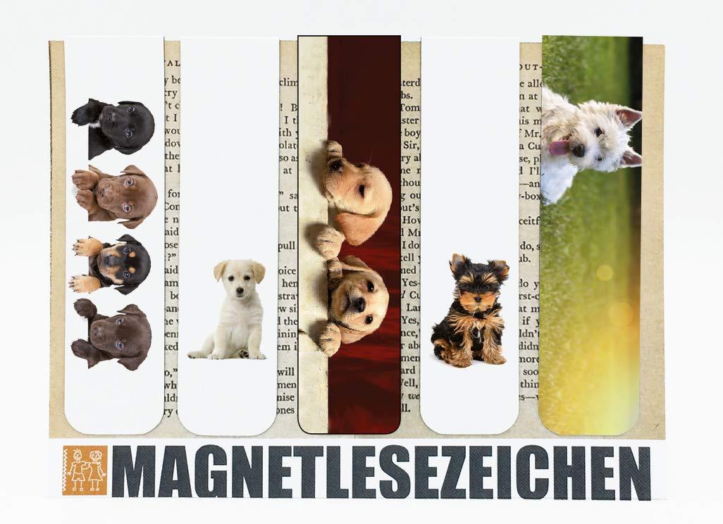 2,5 x 10 cm mit Motiv Leuchtt/ürme Magnetische Lesezeichen 5er-Set