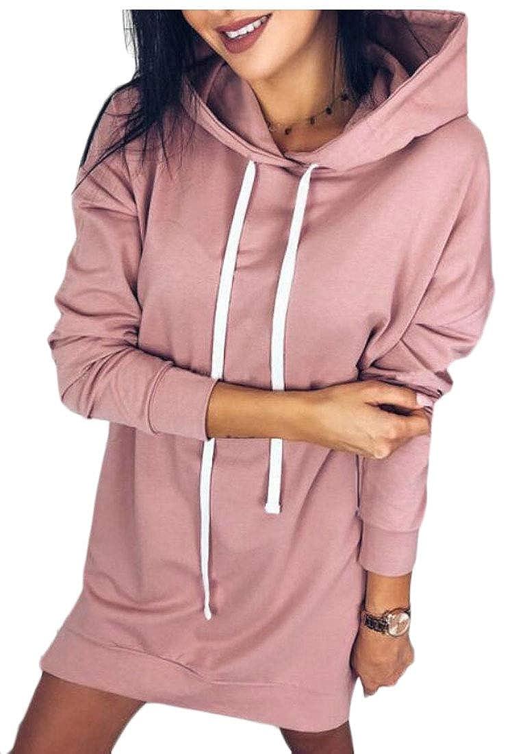 UNINUKOO Unko Womens Hoodie Hooded Casual Long-Sleeve Drawstring Pullover Sweatshirt